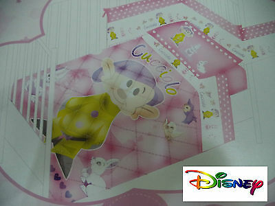 Set Crib/Bed Disney. Quilt - Trapuntino. Cucciolo. Rosa. With Cot Bumpers