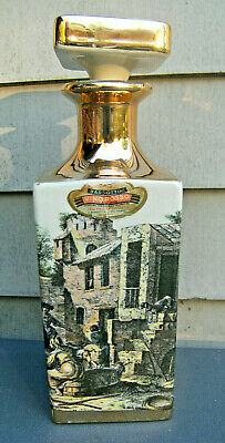 Vintage Barsottini Vino Rosso wine decanter(empty)Italian village scenes,ceramic