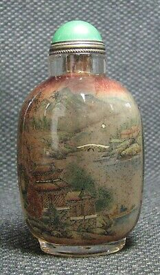 Chinese Traditional Glass Inside-drawing Scenery Snuff Bottle-----