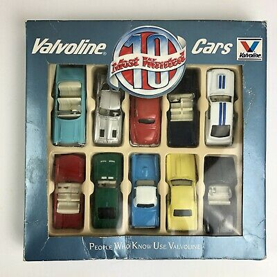 Vintage Valvoline 10 Most Wanted Cars 1:64 Nos In Original Box