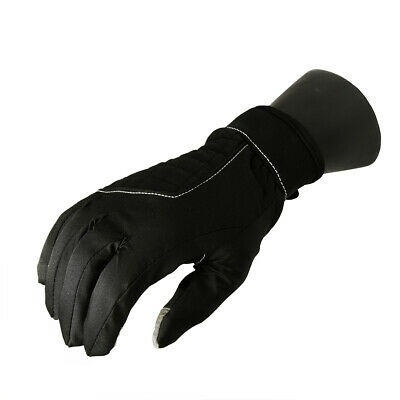 Christmas Central Women Black Softshell Winter Touchscreen Sport Gloves Small