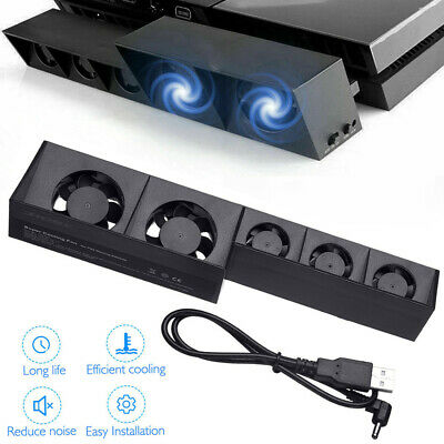 For PlayStation PS4 Host Game Console USB Powered External Cooling 5 Fans Uk