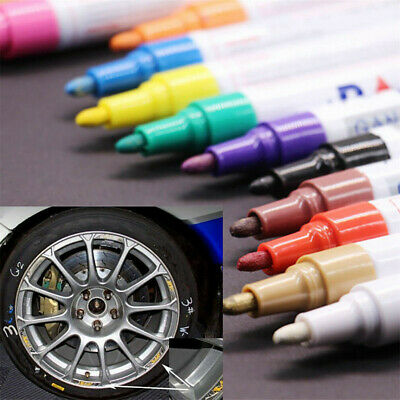 12 Waterproof Acrylic Paint Marker Pen for Permanent Rock Metal Glass Pebble New