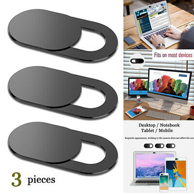 Webcam Cover 3 PACK Thin Camera Sticker Slider for iPhone iPad Laptop PC Mobile