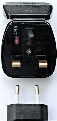 Original GHD Replacement Powerconnection EU to UK Converter Plug Adapter
