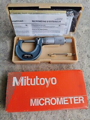 Mitutoyo Outside Micrometer 0-25mm, 0,001mm (Item number: 103-129)