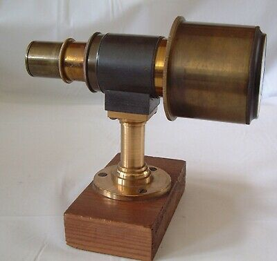 Focusing tube 6 inch long on a freestanding wood stand