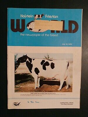 "Holstein World 1976 ""Felicia May Fury (3E 97)"" Cover Story + Burgeson Dispersal"