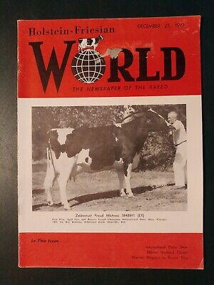 "Holstein World 1961 International Dairy Show + ""Mistress"" + Royal Show + Pabst"