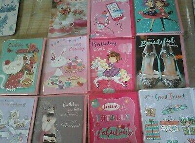 42 Girls Cards, Wholesale Joblot Greeting Cards