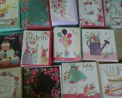 40 Rose Gold Cards, Wholesale Joblot Greeting Cards