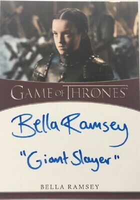 Bella Ramsey as Lady Mormont Inscription Autograph from Game of Thrones Season 8
