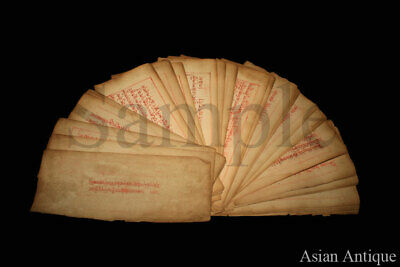 Mongolian Tibetan  Manuscript Sutras Book with Painting Mongolia #B3043