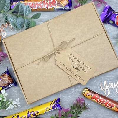 A Father's Day Treat - Personalised Chocolate Gift Box, Personalised Treats