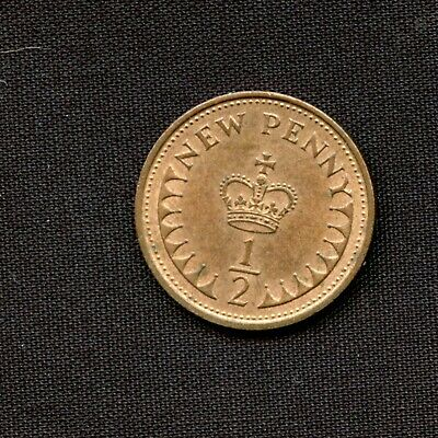 Vintage  1971 Half New Penny Coin Queen Elizabeth II Great Britain  UK