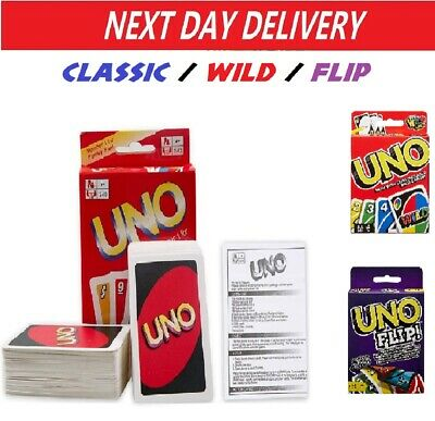 UNO Card Game Classic / Wild / Flip Great Family Fun Party Playing Cards