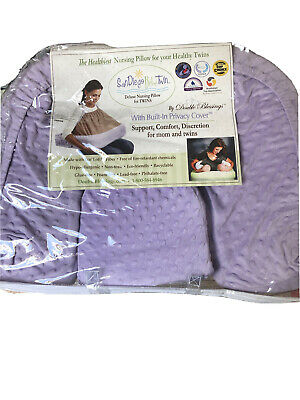 Twin Baby Feeding Breastfeeding Nursing Pillow Cushion Support And Privacy Cover