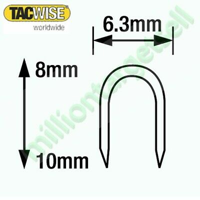 Tacwise cable staples CT-45 Series 8mm 10mm galvanised silver white 1000 - 5000