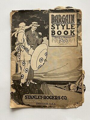 Antique 1919 Stanley Rogers Co. Bargain Style Book Fashion Beauty Catalog