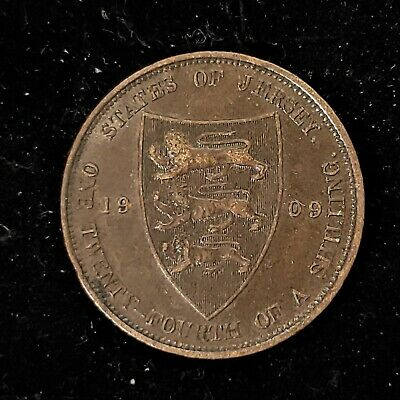 Jersey 1909 1/24th One Twenty-Fourth of a Shilling