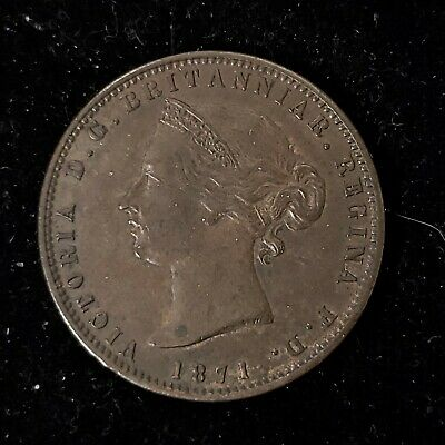 Jersey 1871 1/24th One Twenty-Fourth of a Shilling