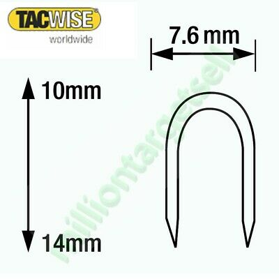 Tacwise cable staples CT-60 Series 10 12 14  galvanised silver white 1000 - 5000