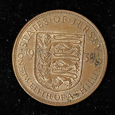 Jersey 1937 1/12th One Twelfth of a Shilling