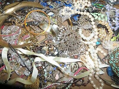 16 Pound 7 Ounce Box Assorted Jewelry