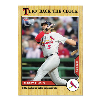 2020 MLB TOPPS NOW Turn Back the Clock #54 Albert Pujols St. Louis Cardinals