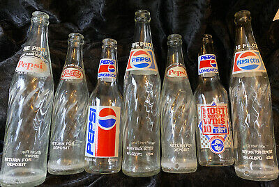 Vintage Pepsi Bottle Lot Of 7