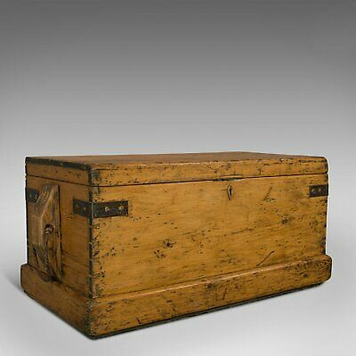 Antique Shipwright's Tool Chest, English, Maritime, Craftsman, Trunk, Victorian