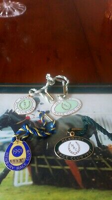 Four Newbury Race Club Badges,  all four badges for £2.25