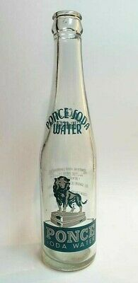 Vintage 9 Oz Soda Bottle / Ponce Soda Water / Ponce Puerto Rico / #8