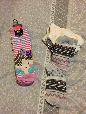 Girls Socks New Age 8-10