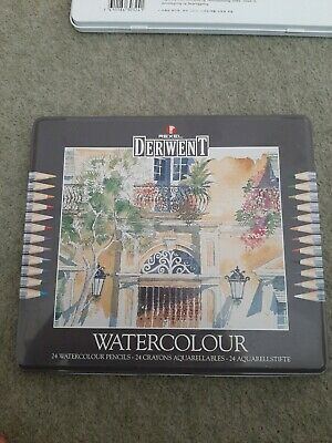 Derwent watercolour pencils 24 Tin. Hardly used