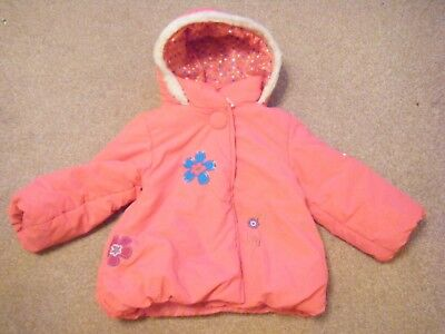Girls Pink Hooded Coat Age 18-23 Months from Tiny Ted