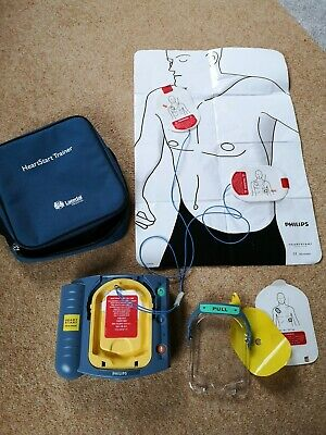 Laerdal Philips HeartStart HS1 AED Defibrillator Training Unit plus accessories