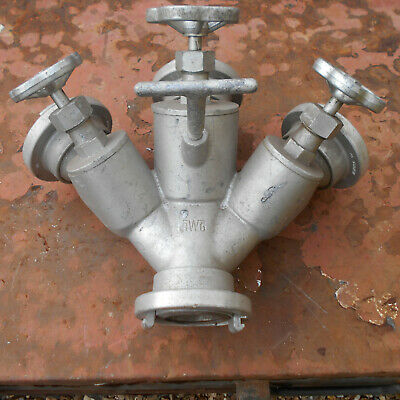 """Awg Fire Brigade 2 """" 3 Way Dividing Breeching Used Good Condition"""