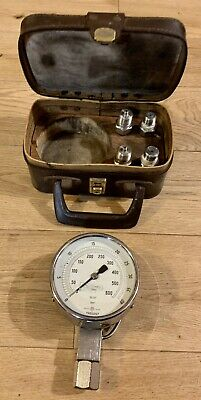 Nabic Boiler  Inspector's 4 Inch Test Gauge In Case With 4 Fittings