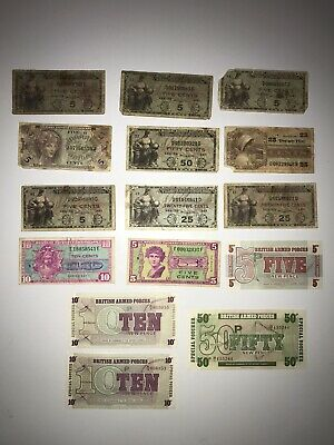 Military Payment Certificate Currency Lot