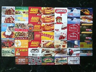 Lot of 47 Roadhouses and along the way restaurants Gift cards