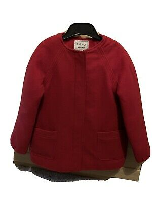 Gorgeous Red Next Coat With Fleece Lining - Aged 5-6 - Worn Once