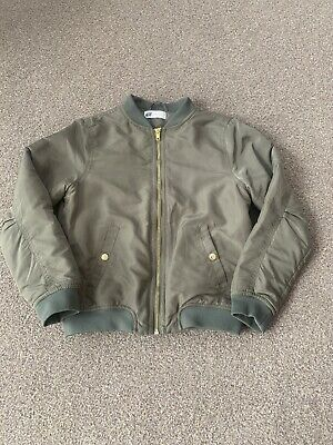 Girls Green H&M Bomber Jacket Age 9 To 10