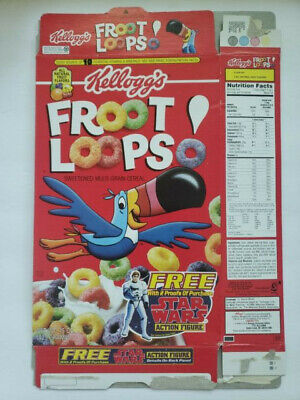 Kellogg's Froot Loops  Empty Cereal Box Star Wars Action Figure Mail In 1995