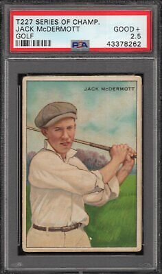 Lot 1: 1910 T227 Honest Long Cut Series of Champions -- McDermott PSA 2.5 golf