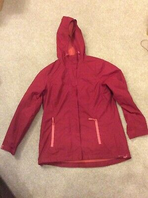 Girls Wine Red Lightweight Hooded Coat From George Size Med