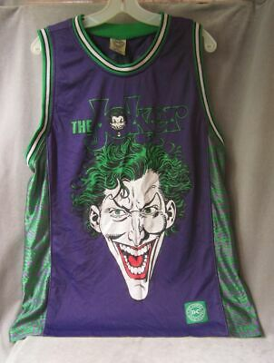 The Joker DC Comics Basketball Jersey Large Purple Green Batman mens shirt Rare
