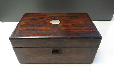 Small Antique Rosewood & MOP Jewellery Box for restoration