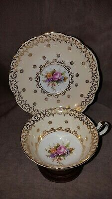 EB Foley Vintage Bone China Teacup & Saucer Set Flowers. England