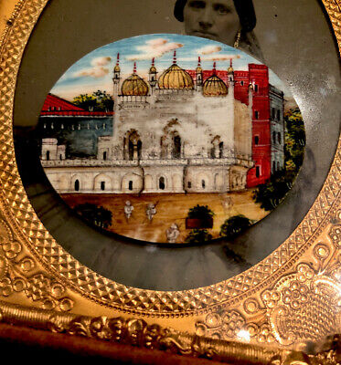 Antique Miniature Painting Foreign Scene Hand Painted Middle East India
